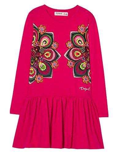 Desigual Mädchen Kleid Vest_Olympia, Rot (Fuchsia Rose 3022), 152 (Herstellergröße: 11/12)