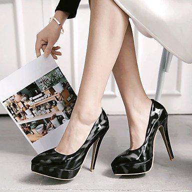 Talloni delle donne Primavera Estate Autunno Club Vernice Scarpe Party & Sera casuale tacco a spillo Blu Rosso Argento Silver