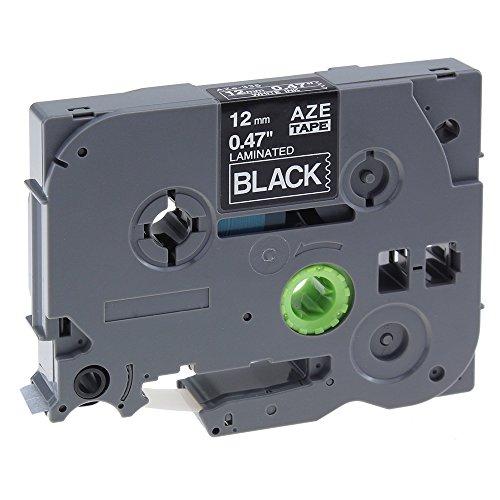 Cassetta Nastro Laminato Compatibile con Brother TZe-335 / TZ-335 / Bianco su Nero / 12mm x 8m per Brother P-Touch P900 P900W P950NW GL100 PT200 PT1000 PT1000BM PT1010 PT1010B