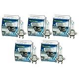 ECD Germany 10 Stück Halogen Scheinwerferlampe H7-12V 55W - 8500K 50% Mehr Licht - Xenon Optik Xtreme White - mit E4 Zulassung - Glühbirne Birne Glühlampe Autolampe Lampe