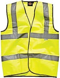 Dickies - Chaleco reflectante para hombre, amarillo, SA22010