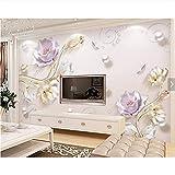 Ytdzsw 3D Geprägte Tulpe Blume Fototapete Wandbild Für Wohnzimmer Sofa Tv Hintergrund Wandkunst Dekor Tapeten Wandbilder-250X175Cm