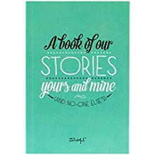 "Mr. Wonderful WOA02058 - Libro con mensaje ""A book of our stories yours and mine and no-one else's"""