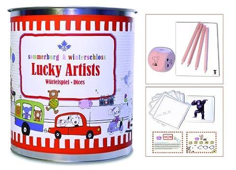 Lucky Artist: Würfelspiel, Dices für 2-6 Spieler