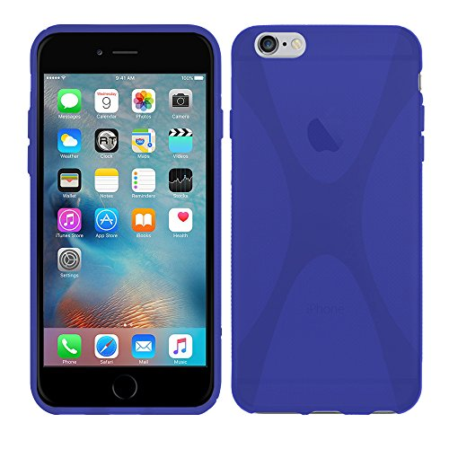 Apple iPhone 6S Plus (5,5 Zoll) - TPU Schutzhülle X-Style X Design Case Schutz Cover Etui Hülle in Transparent - RT-Trading Blau