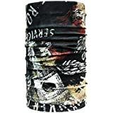 Noise NOIHWP167 13-in-1 Piston Skull Multifuntional Polyester Bandana, Free Size (Multicolour)