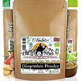 Nabür - Gingembre en Poudre Bio 250 Gr ⭐ Gingembre Bio Poudre du Pérou ⭐ Frais, Riche, Fruité ⭐ Cuisine, Pâtisserie, Smoothie, Jus, Infusion