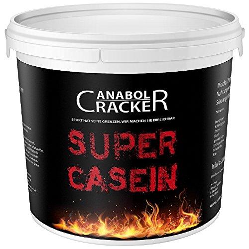 Super Casein, Eiweißpulver, 700g Eimer, Schoko oder Vanille Geschmack, Glutamin, 100% reines Milch Protein (Schoko)