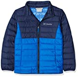 Columbia Jacke für Jungen, Powder Lite Insulated Jacket, Blau (Super Blue, Collegiate Navy), Gr. M, EB0015