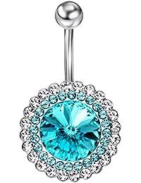SWAROVSKI ELEMENTS Cristal Bijoux de corps Nombril Accessoire Piercings Bananes Ornement En Coffret Neoglory Jewellery