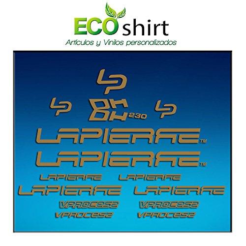 Ecoshirt RB-4C4U-3O2P Aufkleber Stickers Bild Lapierre Dh230 Am24 Frame MTB Downhill, Silber