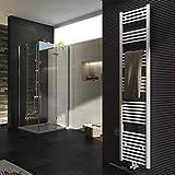 Badheizkörper 1800x400mm 765 Watt Leistung Weiß Handtuchtrockner Heizkörper Bad Mittelanschluss