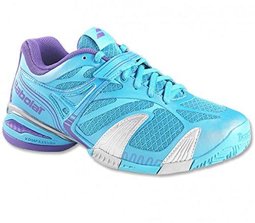 BABOLAT Chaussure de tennis Propulse 4 Clay pour Femme, Bleu, 36.5