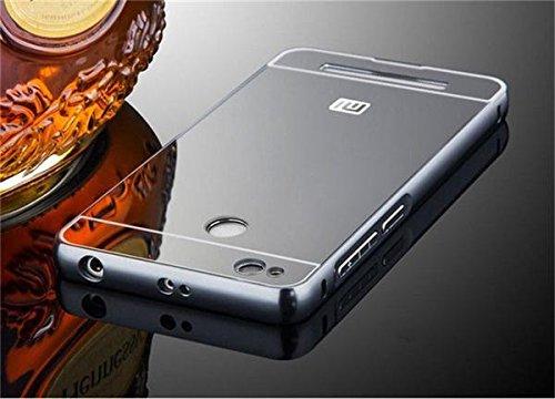 Xiaomi Redmi 3S Prime Luxury Aluminium Bumper With Mirror Acrylic Back Cover - Silver