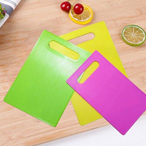 wanshop® Extra dicke flexible Kunststoff Schneidebrett Set, schneiden Board, rutschfestes Obst Reiben Paneel Küche Baby Tisch Matte Küche L Poly Schneidebrett