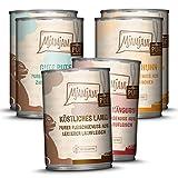 MjAMjAM - Premium Nassfutter für Katzen - Mixpaket V - Purer Fleischgenuss, 6er Pack (6 x 400 g), getreidefrei mit extra viel Fleisch