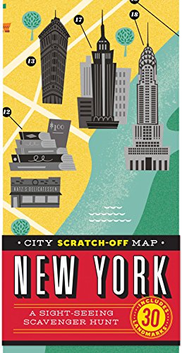 (City Scratch-Off Map: New York: A Sight-Seeing Scavenger Hunt)