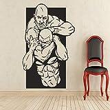 jiushizq Decalcomanie da Muro Decalcomanie da Muro Adesivo Sportivo da Parete Adesivo da Parete Impermeabile Rimovibile Rosso 80 x 100 cm