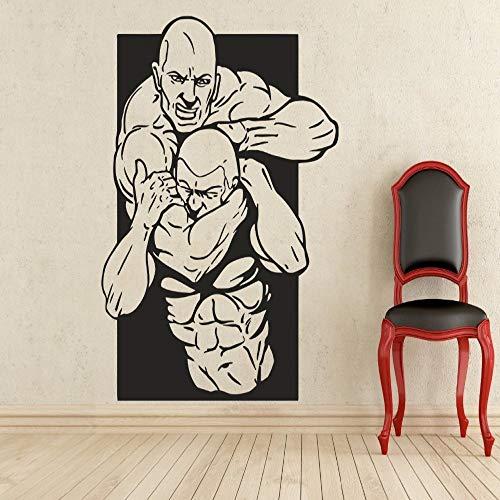 jiushizq Art Decor Wall Decal Sport Vinyl Aufkleber Wall Decor Abnehmbarer wasserdichter Wandaufkleber Schwarz 120 x 150 cm