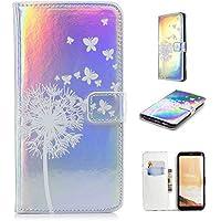 Nadoli Handytasche für Galaxy S8,PU Leder Klapphülle Laser Weiß Löwenzahn Schmetterling Muster Handyhülle Brieftasche... preisvergleich bei billige-tabletten.eu