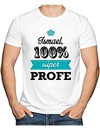 Calledelregalo Regalo para Profesores Personalizable: Camiseta SuperProfe Personalizada con su Nombre (Blanco