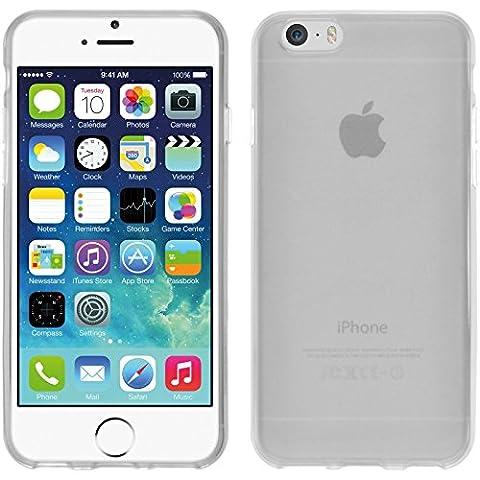Coque en Silicone pour Apple iPhone 6s / 6 - transparent blanc - Cover PhoneNatic Cubierta + films de protection
