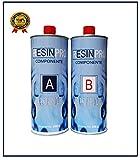 Resin Pro RESINE EPOXY Transparente - Effet Eau 1.6 KG de créations artistiques et de Bijoux, de réparation ou de revêtements de Surface