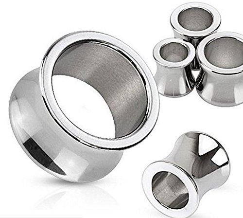 6GA (4 mm) lucidato a specchio brillare Gambe Fit acciaio chirurgico dell'orecchio Hollow Tunnel Gambe (4 Mm Specchio)