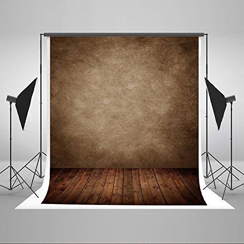 KateHome PHOTOSTUDIOS 1,5x2,2m Retro Fotografie Hintergrund Vintage braun Wand Mikrofaser Holz für Foto Studio Hintergründen
