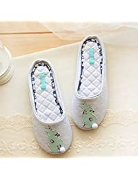 Bordar zapatillas de conejito zapatillas Casa zapatillas zapatillas antideslizante de pisos , 38-39