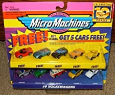 Micro Machines Volkswagens Set #9 with 5 Bonus Vehicles by Galoob Micromachines