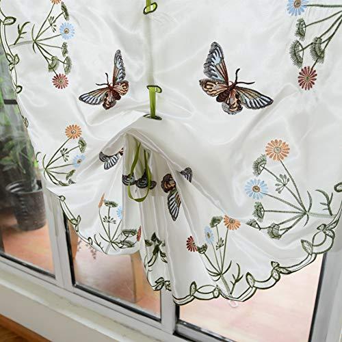Pp&dd tenda in tulle le tende,gancio stile ricamo bianco filato semi-velato,tenda voile,per camera da letto salotto una fetta-a 60x170cm(24x67inch)