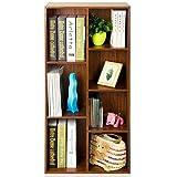 BingWS Librerie per Soggiorno Libreria in Legno a 7 Griglie, Organizer for File e scaffale for Libri da Terra, Supporto TV, ripiano portaoggetti, 50 X 24 X 106 Cm Librerie (Color : A)