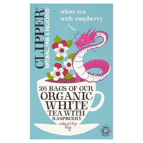 Clipper Bio Weißer Tee mit natürlichen Himbeergeschmack 25 Beutel