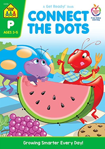 School Zone Preschool Workbooks-Connect The Dots - Ages 3-5
