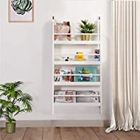 DOSLEEPS Children Wall Bookcase, Kids Bookshelf Wooden Book Display Stand Organizer/Storage Rack - No Sharp Edges - Can be Mounted in the Wall - White