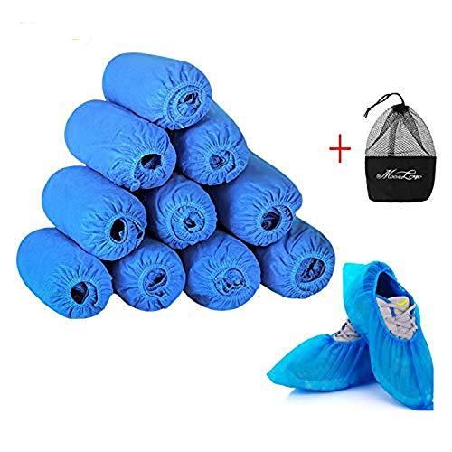 IPENNY Einweg-Überschuhe, Rutschfest, wasserdicht, extra dick, für Teppichböden, für den Innenbereich, für chirurgische Arbeitsplätze, 100 Stück dunkelblau