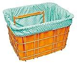 Electra Basket Liner, Orange with Light Blue/ Polka Dots