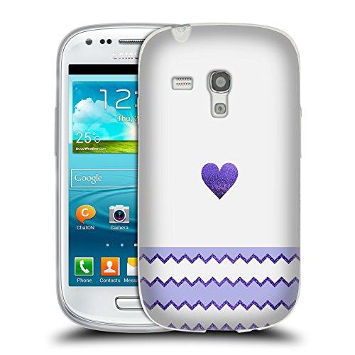Ufficiale Monika Strigel Lilla Cuore Di Avalon Cover Morbida In Gel Per Samsung Galaxy S3 III mini