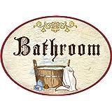 Amazon.it: Bagno - Targhette per porte / Decorazioni per interni: Casa e cucina