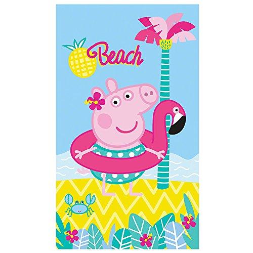 PEPPA Wutz Badetuch · PEPPA PIG BEACH Strandtuch · Palme, Strand & Meer · 70x120 cm · 100% Baumwolle (Peppa Pig Beach)