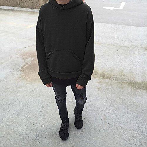 Felpe Tumblr,Kword Unisex Felpa Sciolto Caldo Manica Lunga Maniche Solid Pullover Felpe Beige / Verde / Nero Nero
