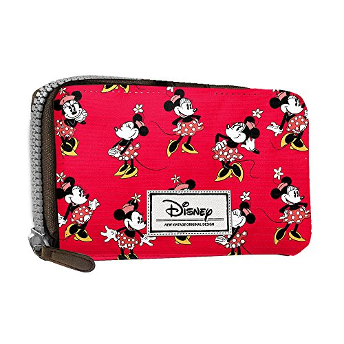 Disney Classic Minnie Cheerful Münzbörse, 16 cm, Rot (Rojo)