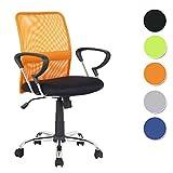 SixBros. Bürostuhl Schreibtischstuhl Drehstuhl Orange/Schwarz - H-8078F-2/2116