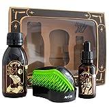 Hey Joe–Bearded Survival Kit | Kit de règlement Barbas qui comprend: Huile, Shampooing et brosse pour barbe