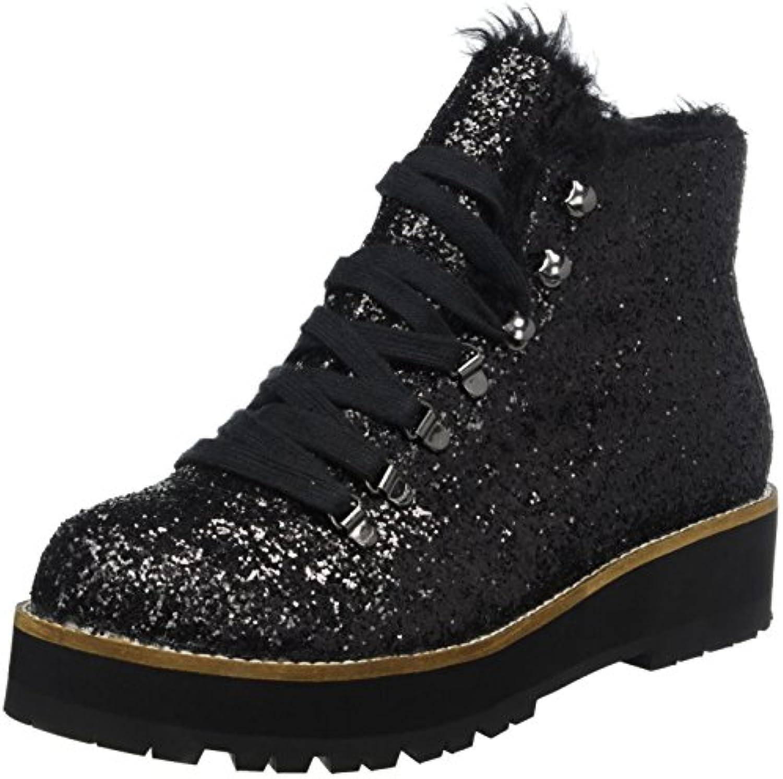 Buffalo Shoes Damen 15B69-1 Glitter Stiefel, Schwarz (Black 01), 42 EU -