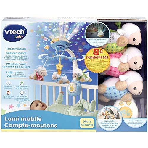 Baby Musical Mobile Mit Timer-Funktionsprojektor Und Lichtern,Kinderbett Spielzeug H/ängende Rotierende Rasseln Und Ferngesteuerte Spieluhr,Babyausstattung Ab Geburt