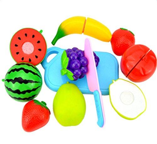 Atommy 8 pcs de juguetes de cocina frutas para niños rodajas de verduras en rodajas Juego de cocina para niños Le play house