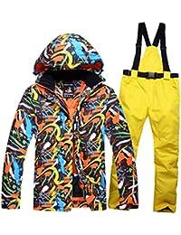 FELICIG Herren Skianzug Winter Skijacke und Hosen Set (Color : 01, Size : XL)