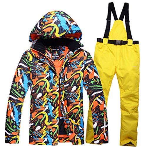 FELICIPP Pantaloni da Sci e Tute da Sci Invernali da Uomo (Color : 01, Size : M)